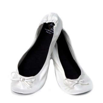 Ballerines pliable blanches
