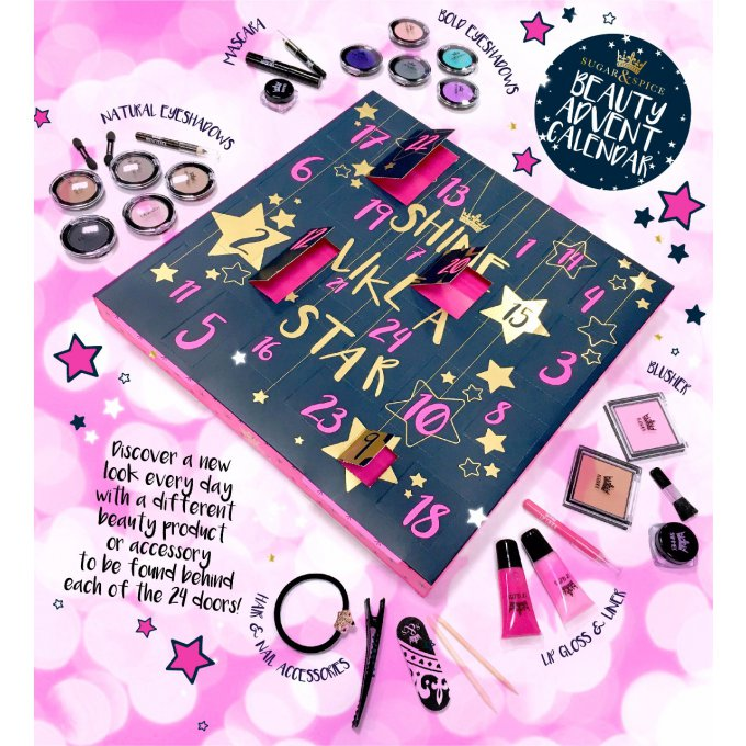 "Calendrier de l'Avent Beauté ""Shine Like a Star"" Sugar & Spice"