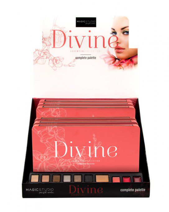 Grande Palette de maquillage DIVINE - 16 couleurs - 21 g - Magic Studio