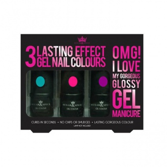 Set 3 gels semi-permanent Bright