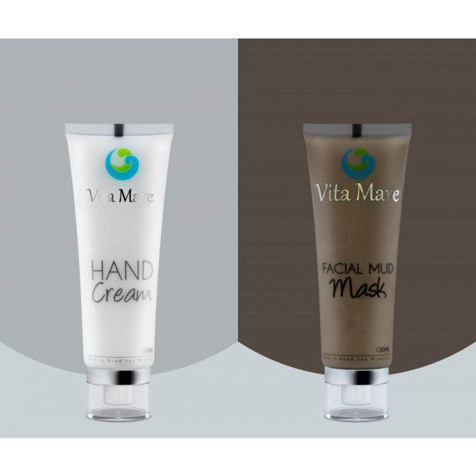 6253016802197 - Vita Mare Hand Cream + 6253016802180 - VITA MARE FACIAL MUD MASK