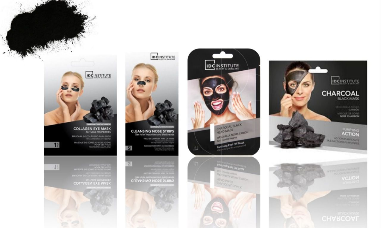 Lot de masques au charbon actif