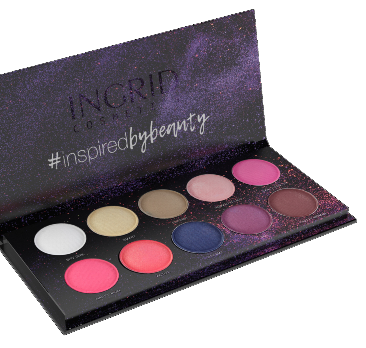 Palette de 10 ombres à paupières  Colors Woman Nature - 27g - Ingrid