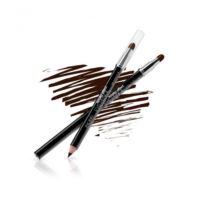 Crayon Smoky Eyes MARRON avec éponge Ingrid Cosmetics
