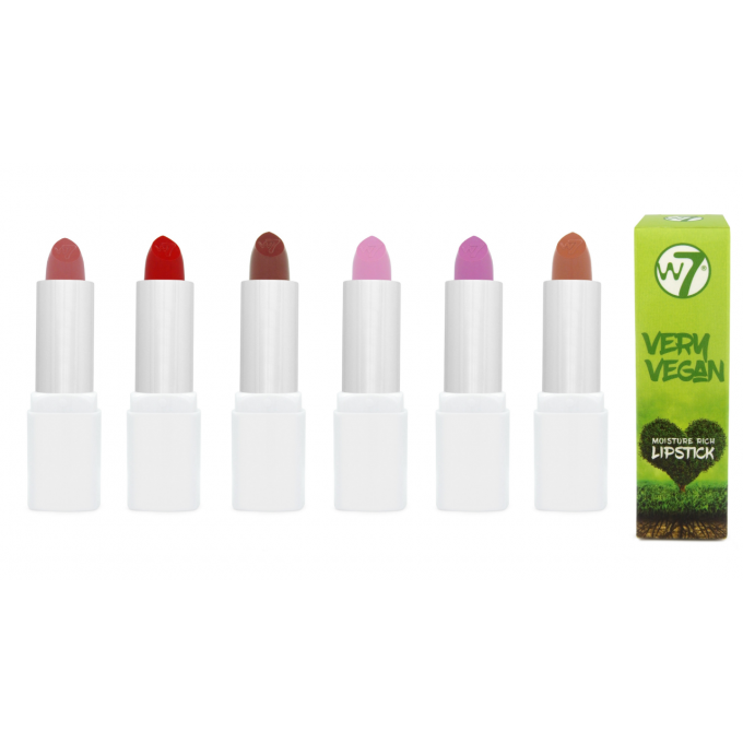 Lot de 6 Very Vegan Moisture Rich Lipstick MATTE