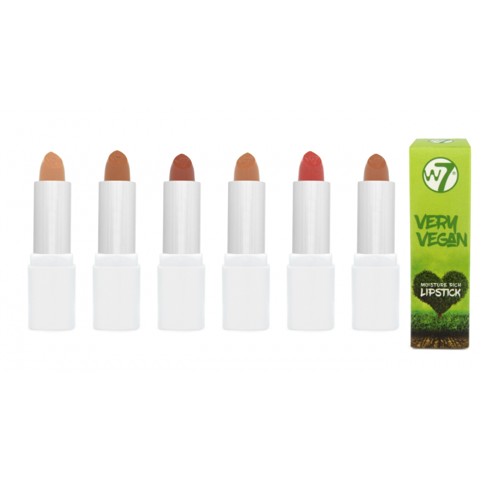 Lot de 6 Very Vegan Moisture Rich Lipstick NUDE