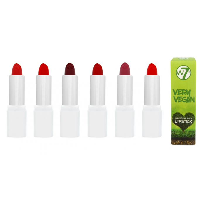 Lot de 6 Very Vegan Moisture Rich Lipstick RED