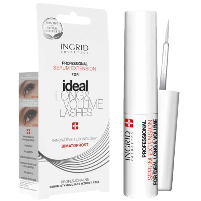 Sérum professionnel d'extension de cils Ingrid Cosmetics