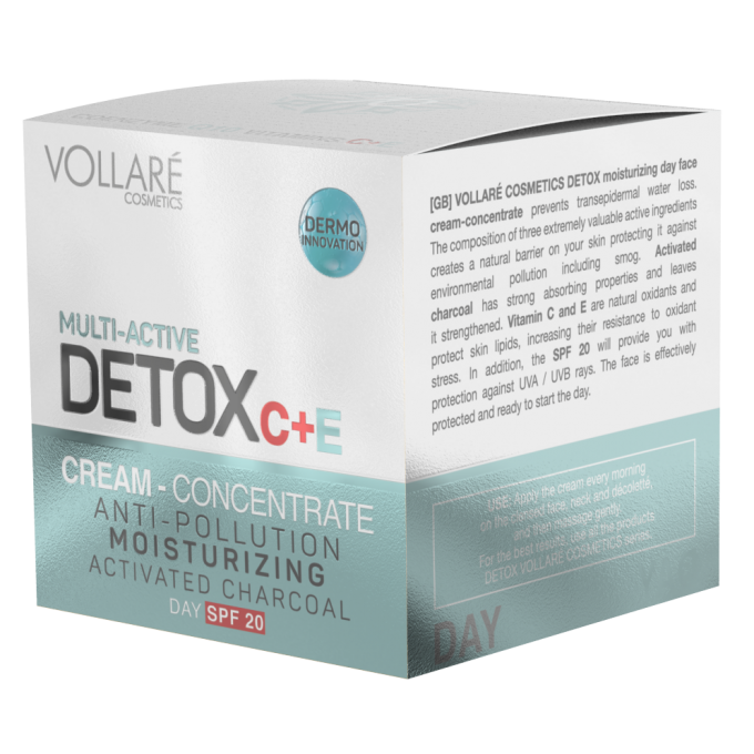 VOLLARE MOISTURIZING DETOX DAY CREAM - CONCENTRATE 2